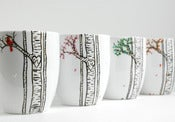 Image of The Four Seasons Birch Tree Collection - 4 Large Personalized Mugs
