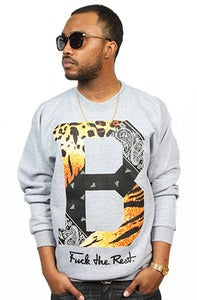 Image of Paisley Tiger Crew Grey