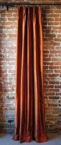 Image of Silk Pleated Drapery Panel