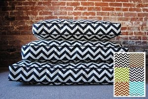Image of Chevron Dog Bed