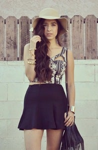 Image of Skater Skirt - Black