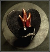 Image of Noche Noire Sacred ♥ Heart Leather Ring~!