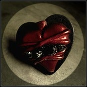 Image of Scarlet Red Sacred ♥ Heart Leather Ring~!