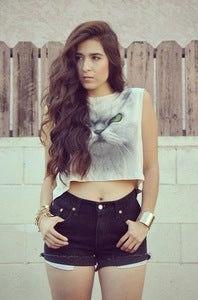 Image of I'm a Kitty Cat Crop - White