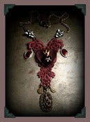 Image of Ruby Heart ♥ Lace Necklace~!