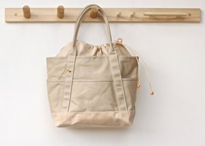 Image of Cinch Tote - Linen & Natural Wax