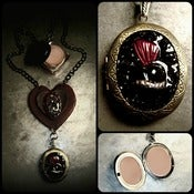 Image of Black Heart ♥ Perfume Locket Relic~!