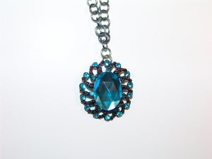 Image of Blue Jeweled Necklace