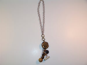 Image of Vintage Pendant Button Necklace