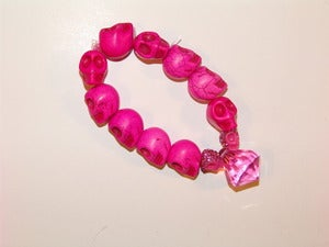 Image of Pink Skull Bracelet