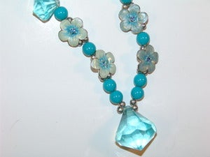 Image of Blue Flower Necklace