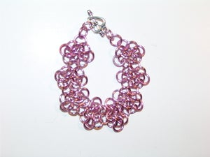 Image of Pink Rosette Bracelet 