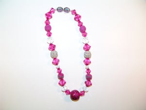 Image of Pink Jeweled Bead Necklace