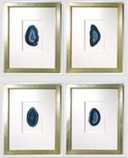 Image of Custom framed agates from Quatrefoil Design (sold individually)