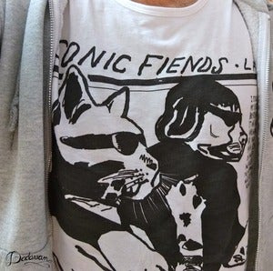 Image of T-shirt homme blanc Sonic Fiends