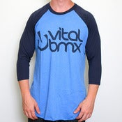 Image of New Age Logo 3/4 Tee, Blue 2-tone