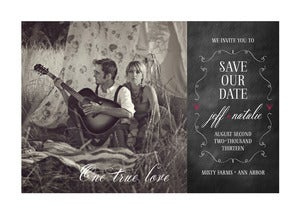 Image of One True Love Save-the-Date card