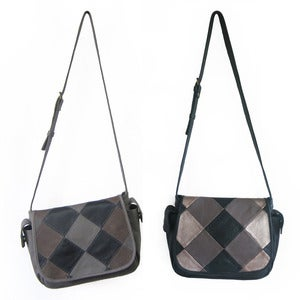 Image of ESTA Satchel Bag in Patchwork Leather
