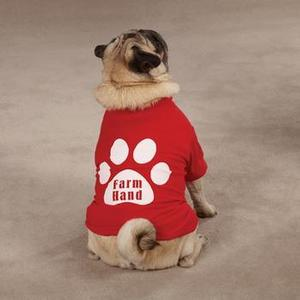 Image of Farm Hand Dog T-Shirt by Zack & Zoey - Red