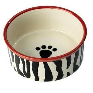 Image of Zebra Buzz Dog Bowl