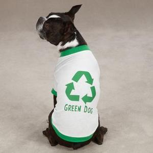 Image of Green Dog T-Shirt by Casual Canine - White