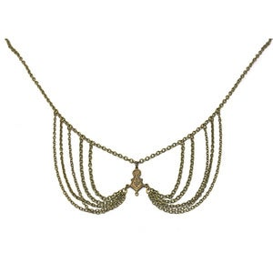 Image of keyhole collar necklace