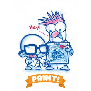 Image of Bunsen and Beaker A5 Print! *FREE SHIPPING!*
