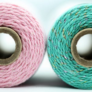 Image of Teal + Pink Sparkle Twine