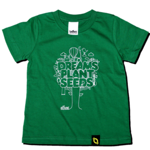 Image of Dreams Plant Seeds - Green Kids T-shirt