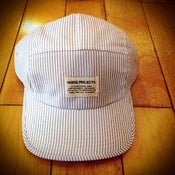 Image of NEW! Norse Projects Blue Stripe 5 Panel Camp Hat