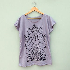 Image of Unicorn Oversize Tee in Grey by Me &amp; Yu