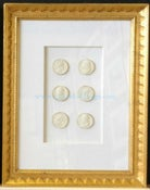 Image of In stock: special spring collection of framed intaglios, design as seen (2)