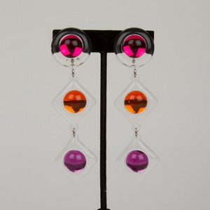 Image of 80's Lucite Earrings