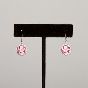 Image of 60's Love Power Earrings