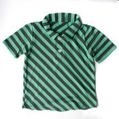 Image of Stripe Polo Green