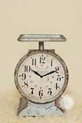 Image of Counter Top Scale Clock - Aged Metal - Vintage Style - NEW