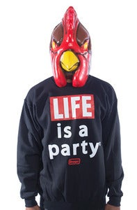 Image of Life is a Party Crew - Black