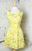 Image of Tulle Lemon Lady Sleeveless Dress