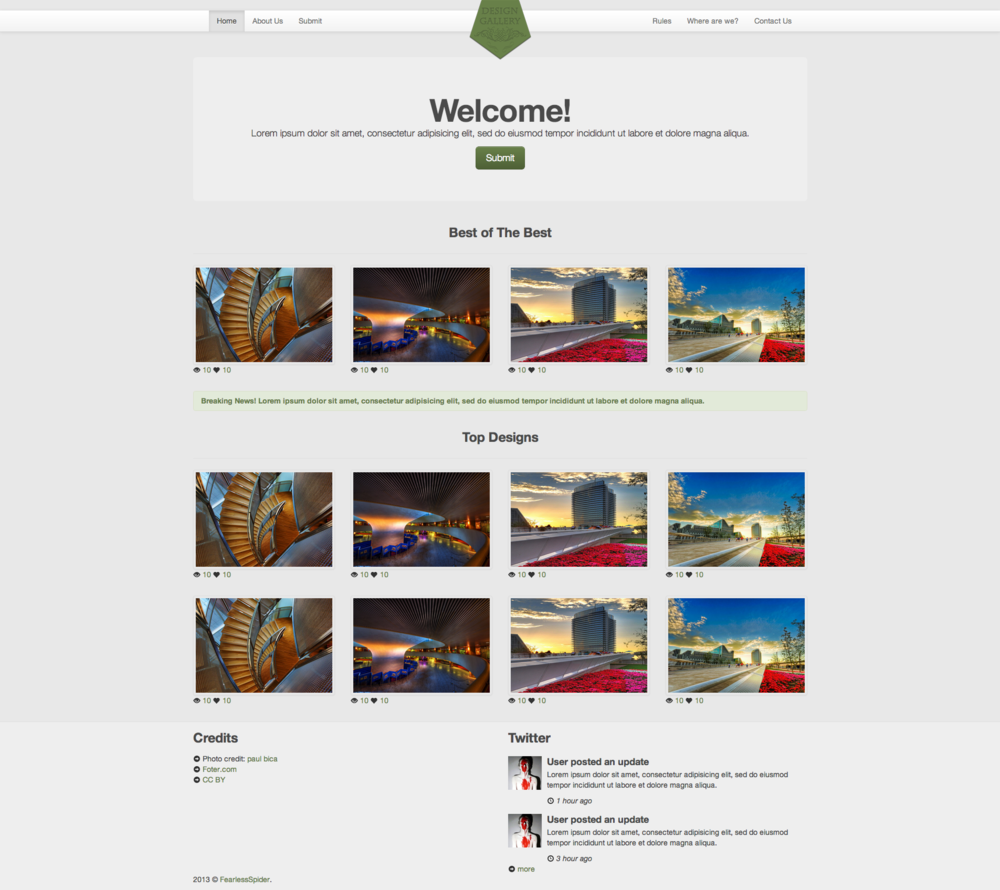 design gallery responsive template 2 99 add to cart design gallery ...
