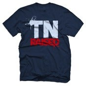 Image of Tennessee Raised - Navy, Light Blue & Red