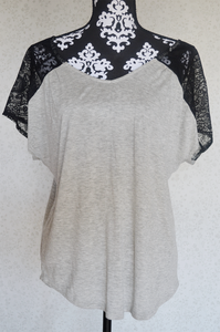 Image of Lace Sleeve Top {Size L}