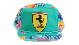 Image of FERRARI HAWAIIAN SNAPBACK - GREEN