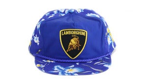 Image of LAMBO HAWAIIAN SNAPBACK - BLUE