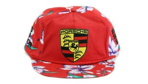 Image of PORSCHE HAWAIIAN SNAPBACK - RED