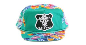 Image of RAIDERS HAWAIIAN SNAPBACK - GREEN