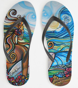 Image of Surf Girl Sandals by Colleen Wilcox