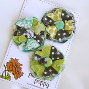 Image of set of 3 posy pins - 835