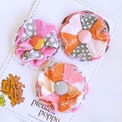 Image of set of 3 posy pins - 836