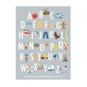 Image of Alphabet Art Print (A3)