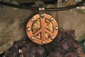 Image of Mixed Metal Double Sided Peace Pendant